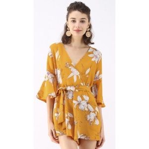 Chicwish Bold Blooms Romper